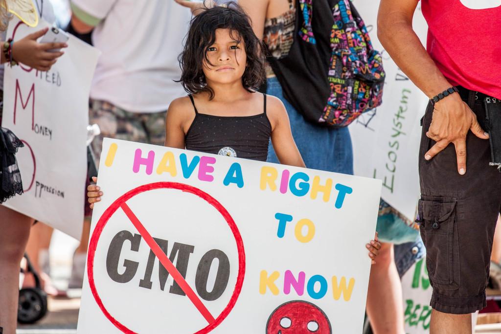 Little Girl GMO Sign
