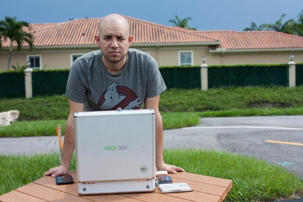 Danny Peña with Xbox case
