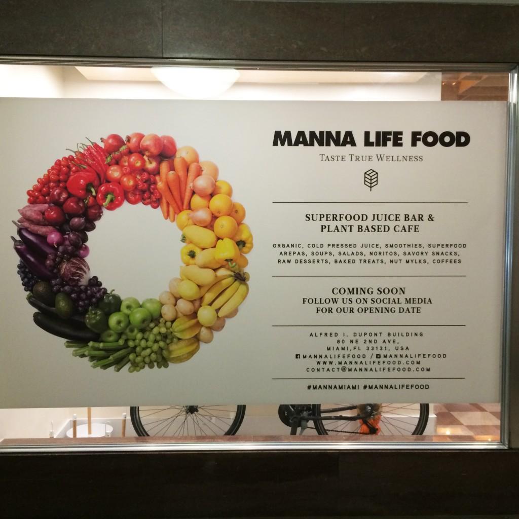 Manna Life Food Sign